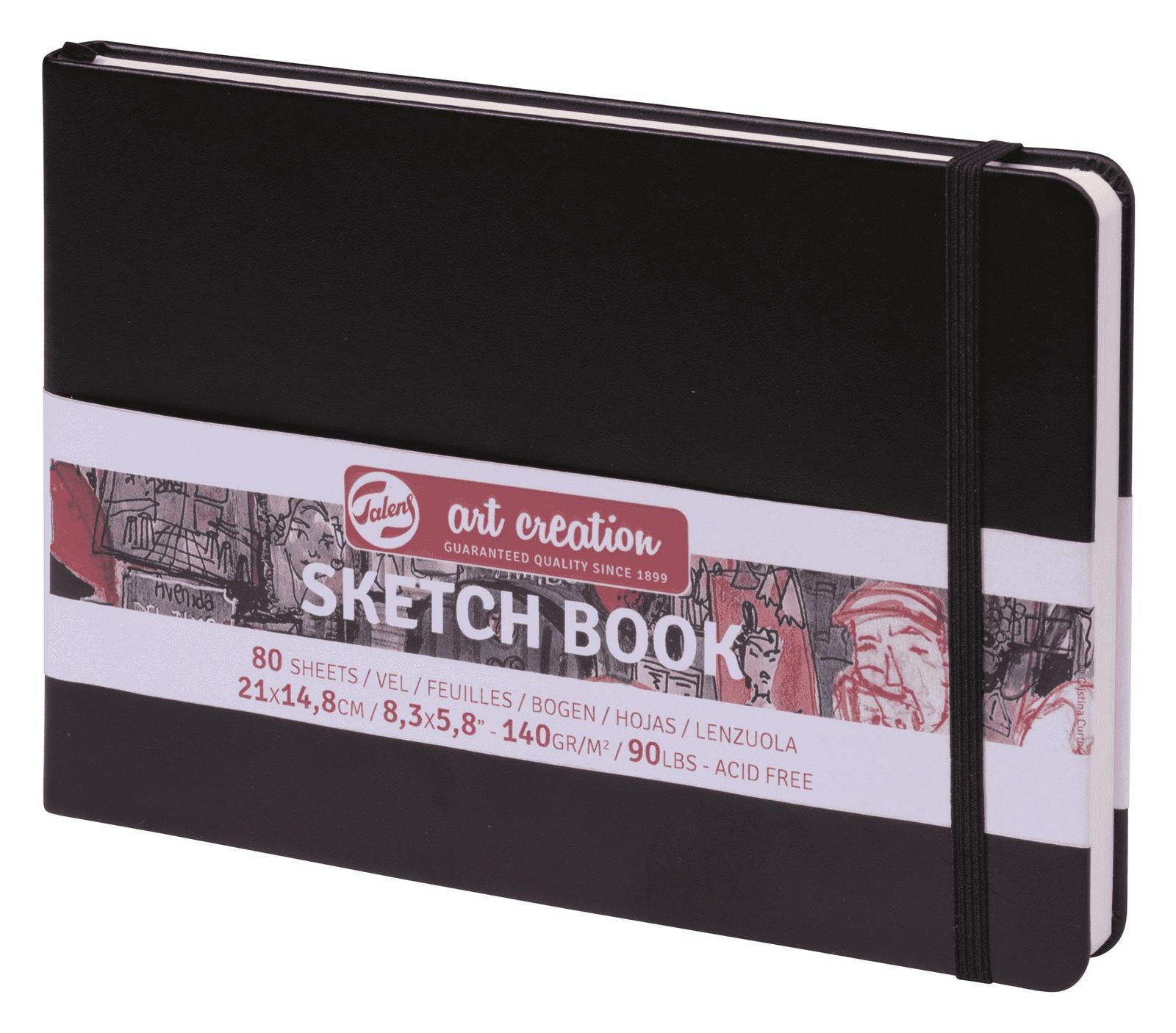 Royal Talens Блокнот для зарисовок Art Creation цвет черный 80 листов 9314005M цены онлайн