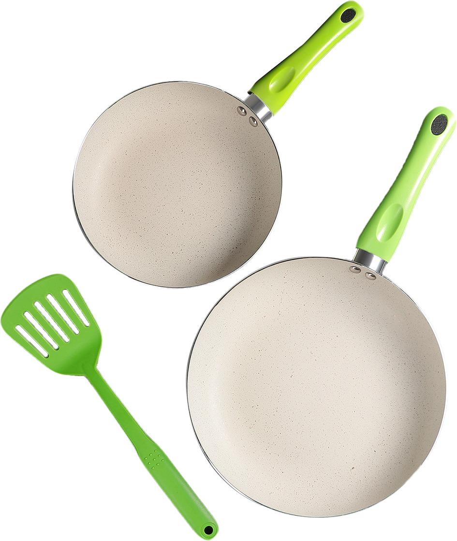 Набор посуды для приготовления Дарел, 4122206, белый, зеленый, 3 предмета