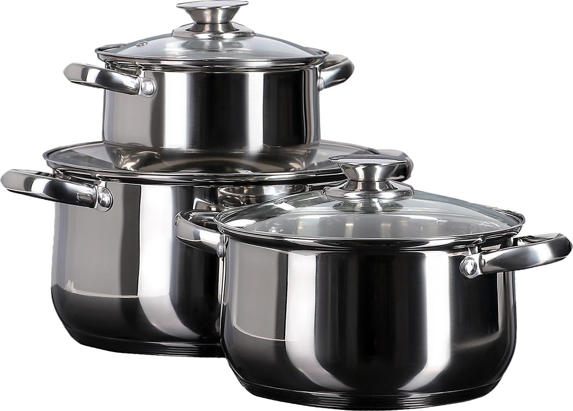 """Набор посуды для приготовления """"Макси"""", 3899468, серебристый, 6 предметов"""