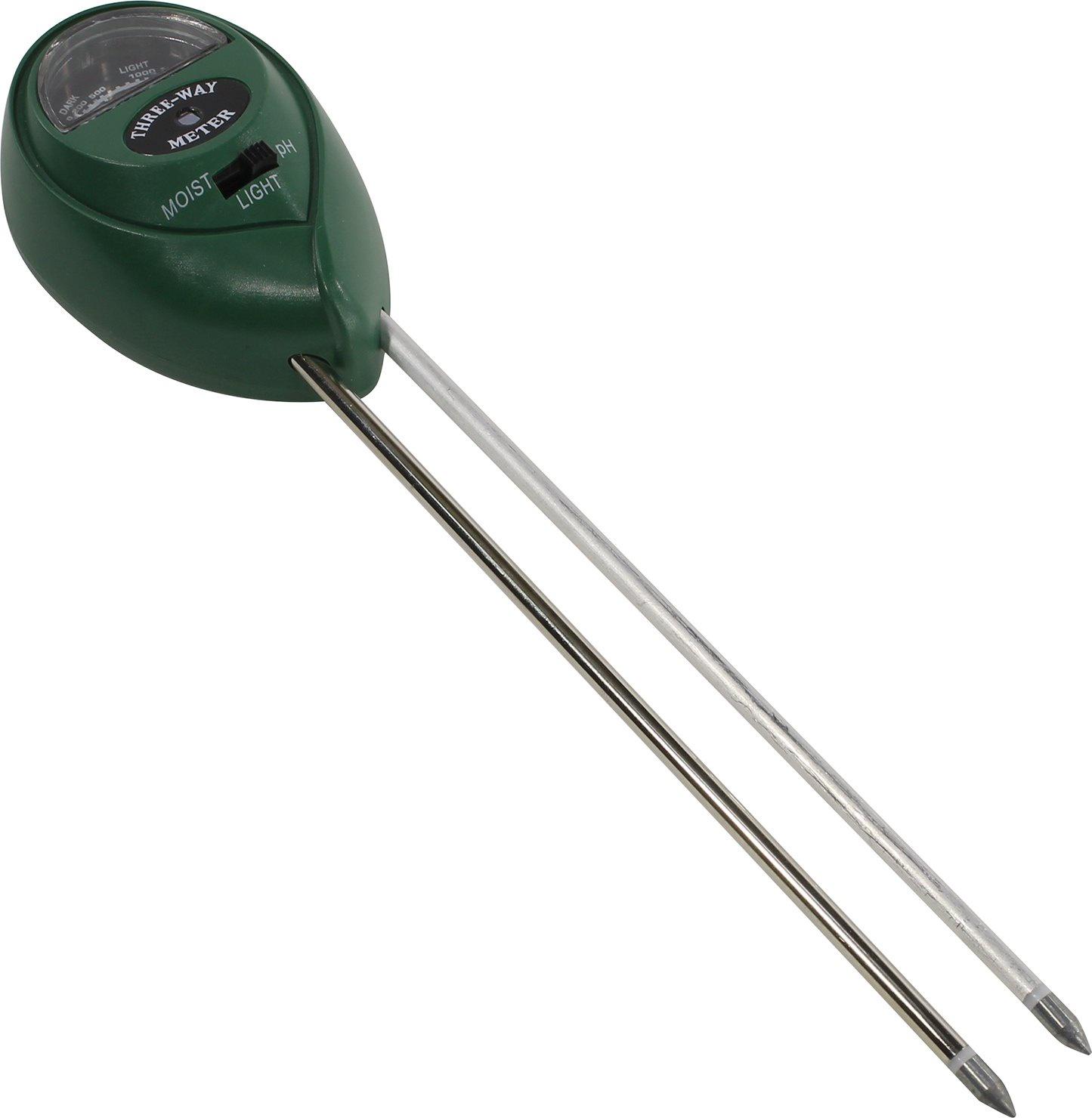 APH-58, Измеритель уровня pH, влажности и освещенности почвы стрелочный, Espada индикатор влажности почвы 3шт пластик металл