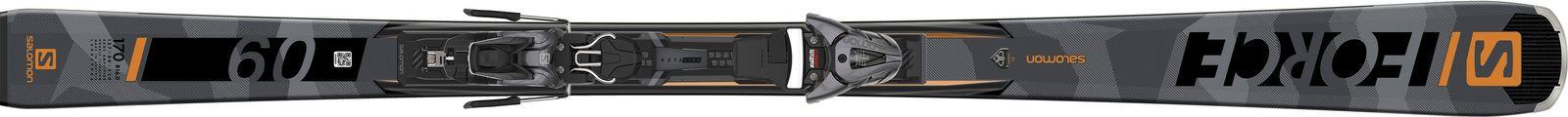 Горные лыжи Salomon E S/Force 9 + Z10 GW L 156, L40915500156, черный, оранжевый, рост 156 см