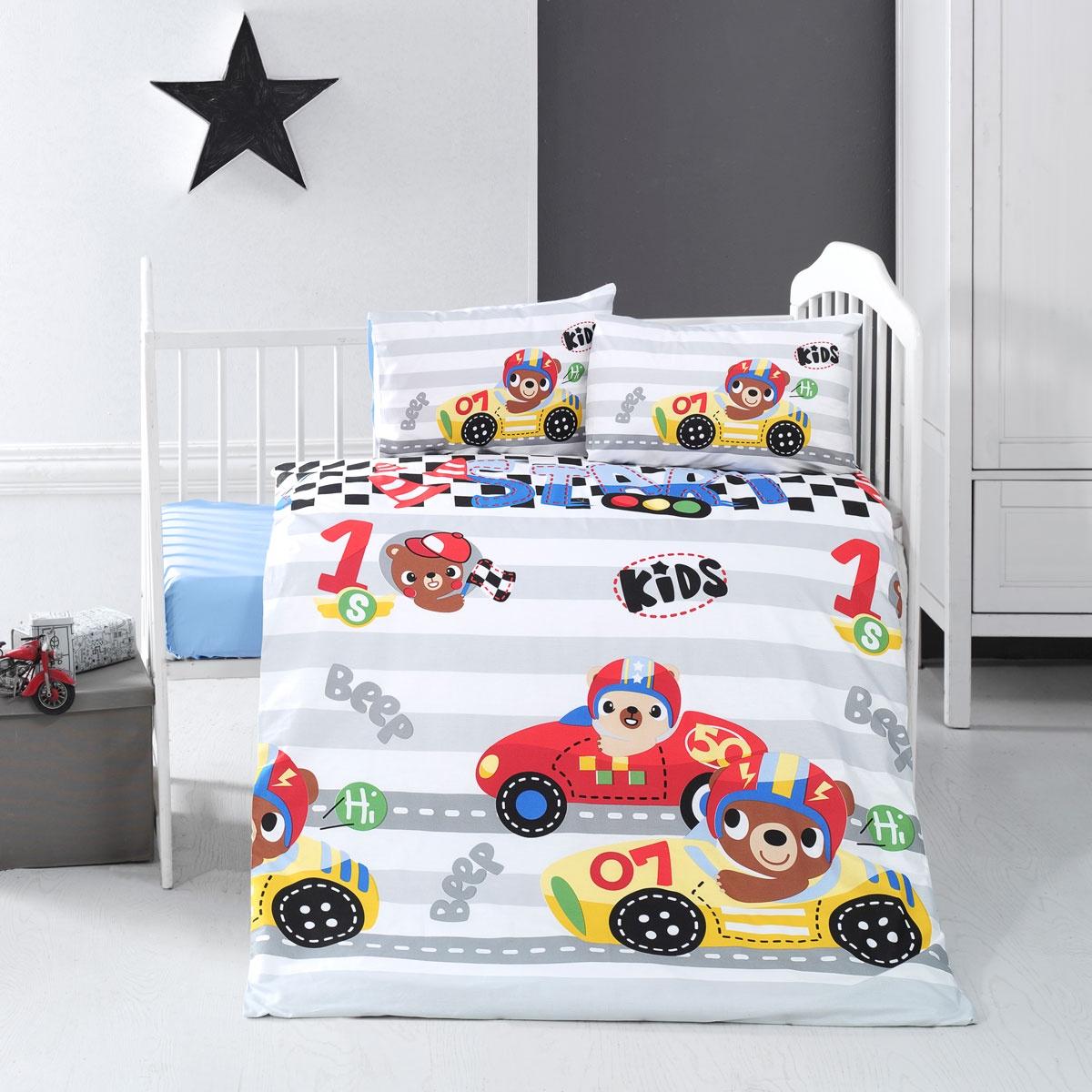 цена на Постельное Белье Arya Ранфорс Детское 100X150 Little Racer