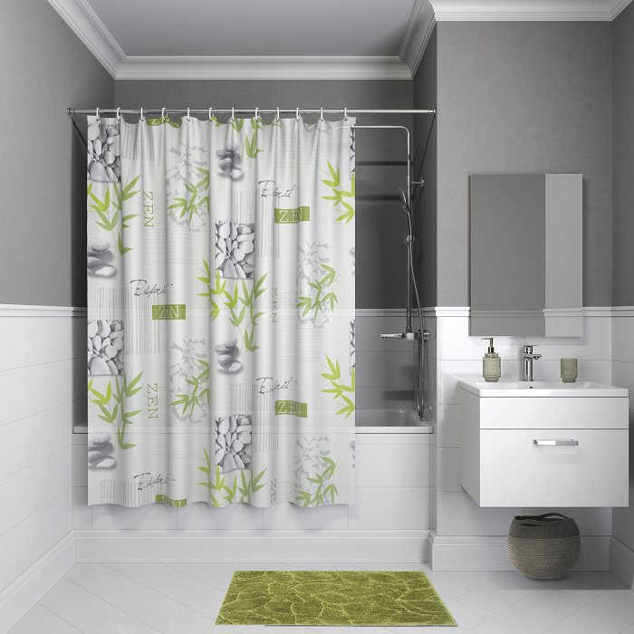 Штора для ванной комнаты, 180*180см, PEVA, P02PV11i11, IDDIS