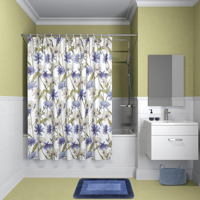 Штора для ванной комнаты, 180*180см, полиэстер, P05P118i11, IDDIS