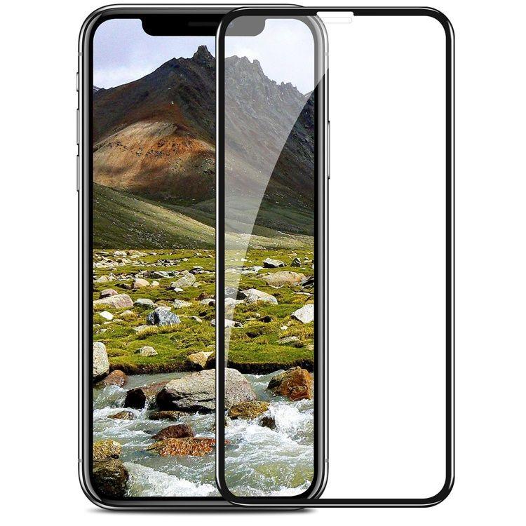 Защитное стекло для iPhone XS MAX 5D DUST NET, черный