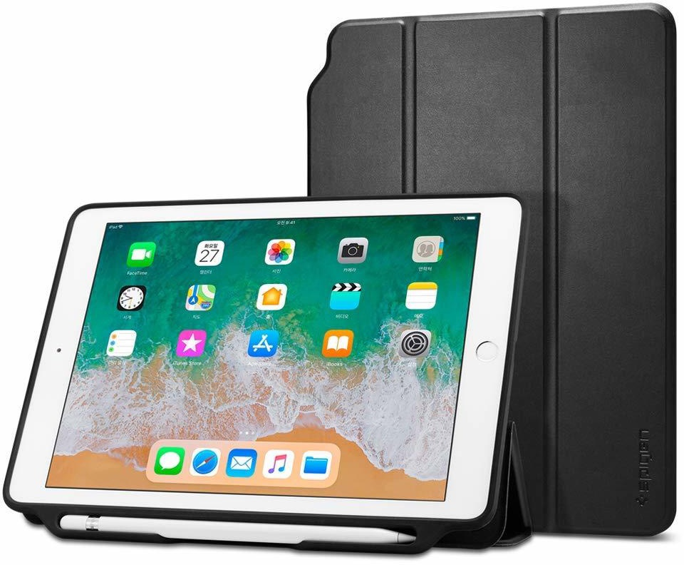 "Чехол - книжка Spigen Smart Fold 2, black - iPad 9.7"" 2017/2018"