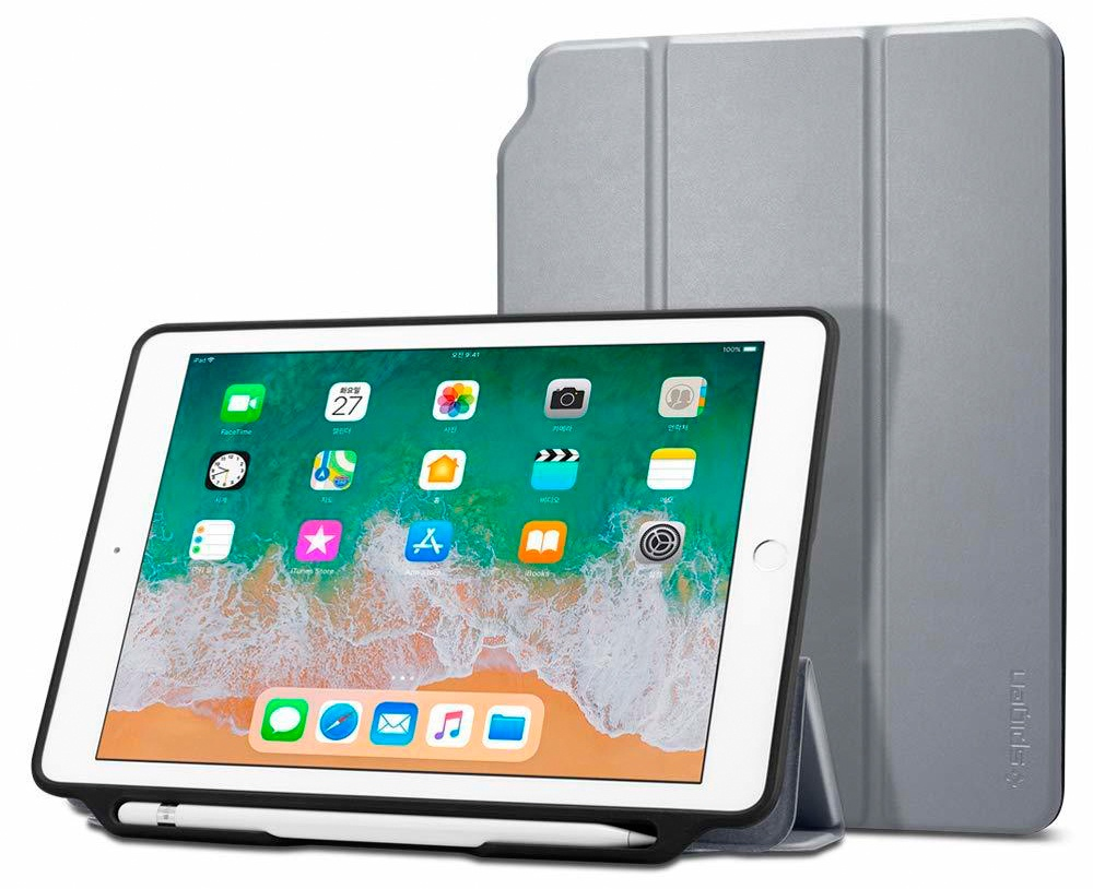 "Чехол - книжка Spigen Smart Fold 2, gray - iPad 9.7"" 2017/2018"