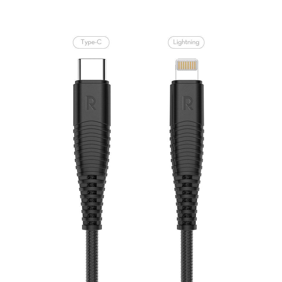 Кабель RAVPower USB-C to Lightning kevlar 1 метр для iPhone XS Max, XS, XR, X, 8, 8+, RP-CB020