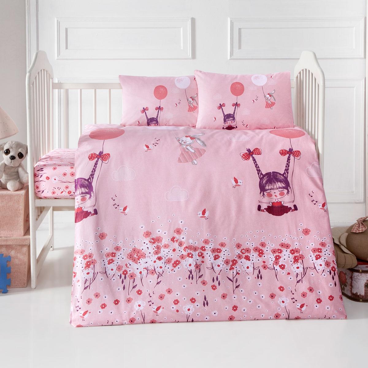 цена на Постельное Белье Arya Ранфорс Детское 100X150 Pinky Girl