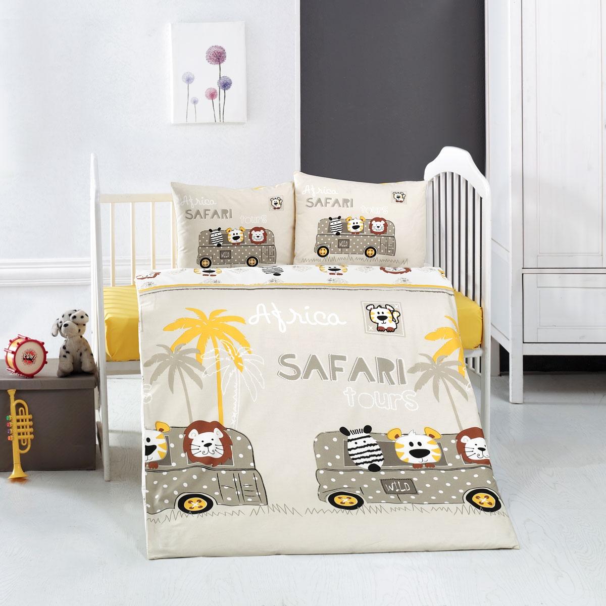 цена на Постельное Белье Arya Ранфорс Детское 100X150 Safari