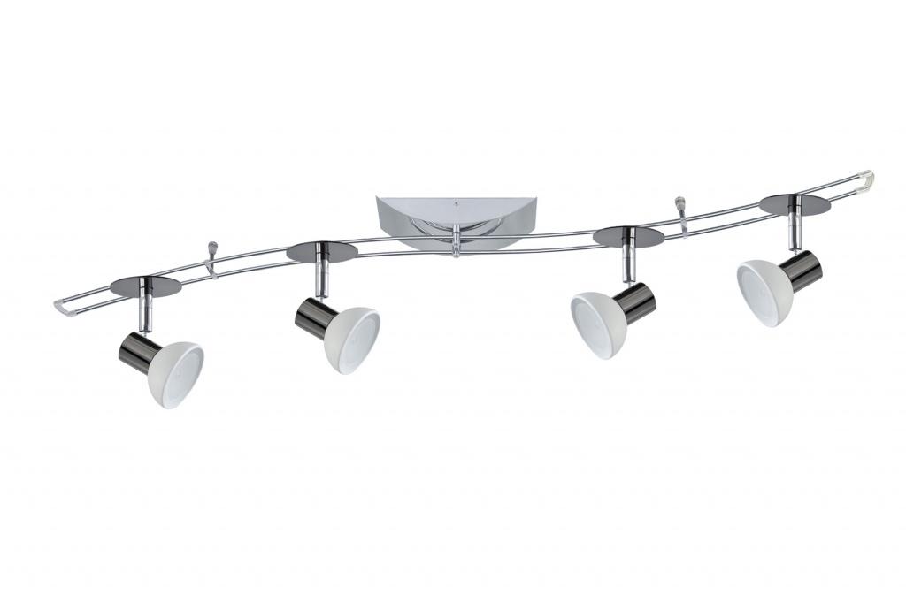 Потолочный светильник штанговый Шила S 150 4x35W GU5,3 черн.хром/опал 230/12V 150VA металл/стекло