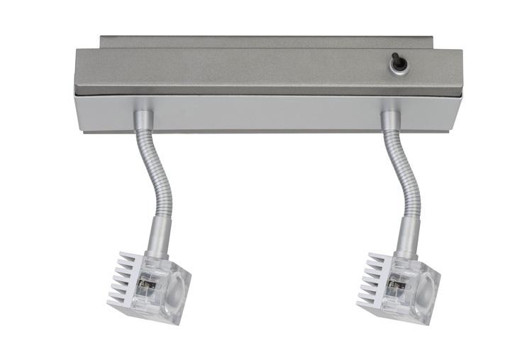 Потолочный светильник GEO LED 2х3W хром матовый