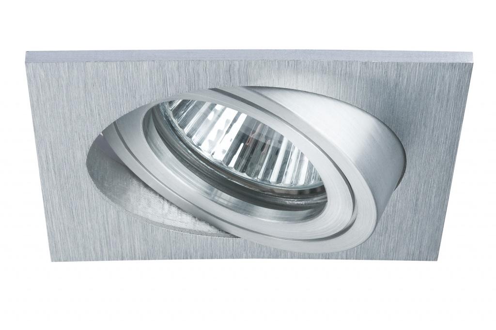 Встраиваемый светильник PremEBL Drilled eck schw. 3x40W GU10 Alu цена