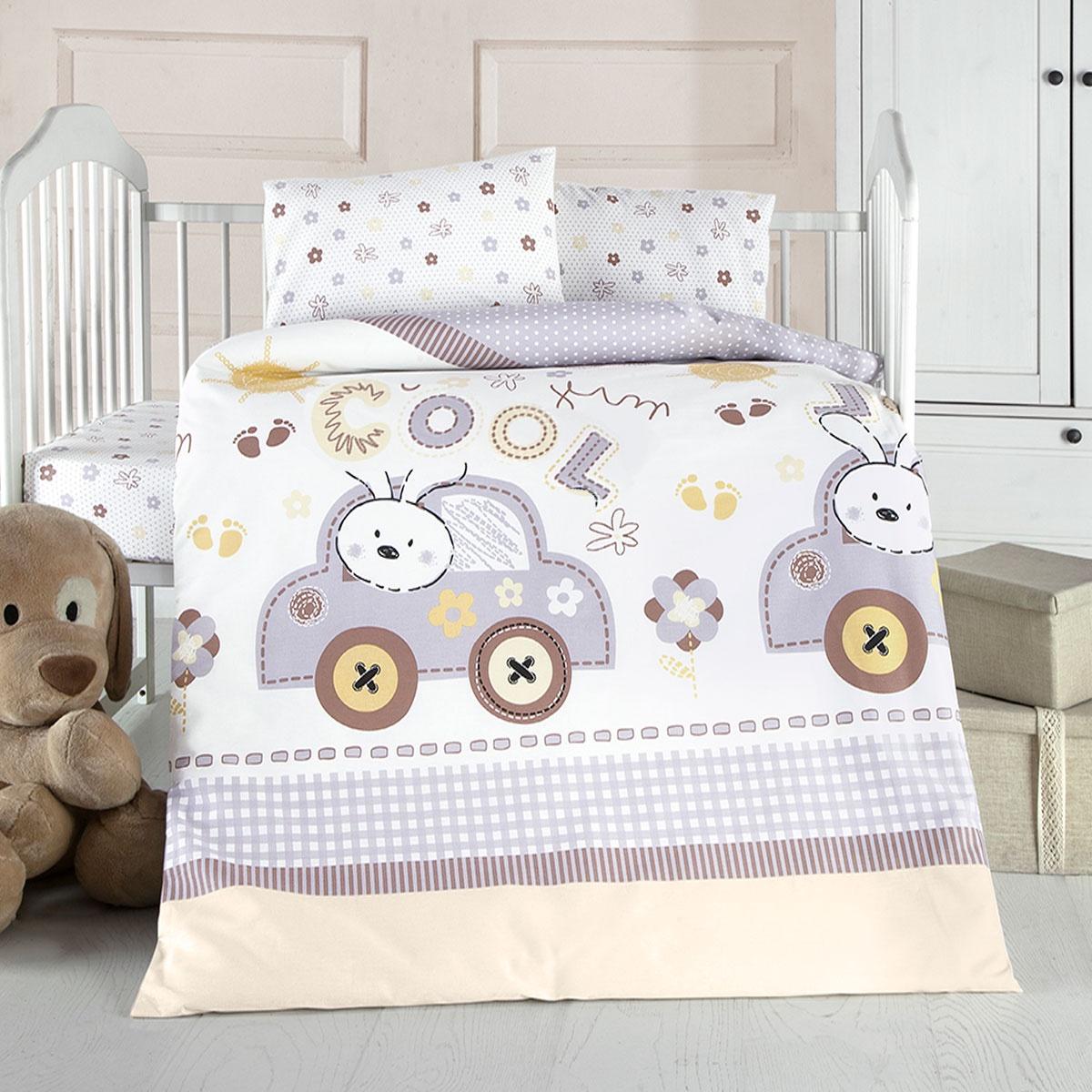 цена на Постельное Белье Arya Ранфорс Детское 100X150 Coll Baby коричневый