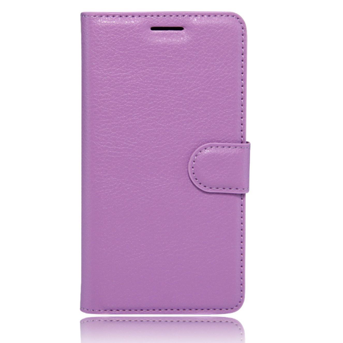Чехол-книжка MyPads для HTC Desire 825 Dual Sim 5.5 с мульти-подставкой застёжкой и визитницей фиолетовый
