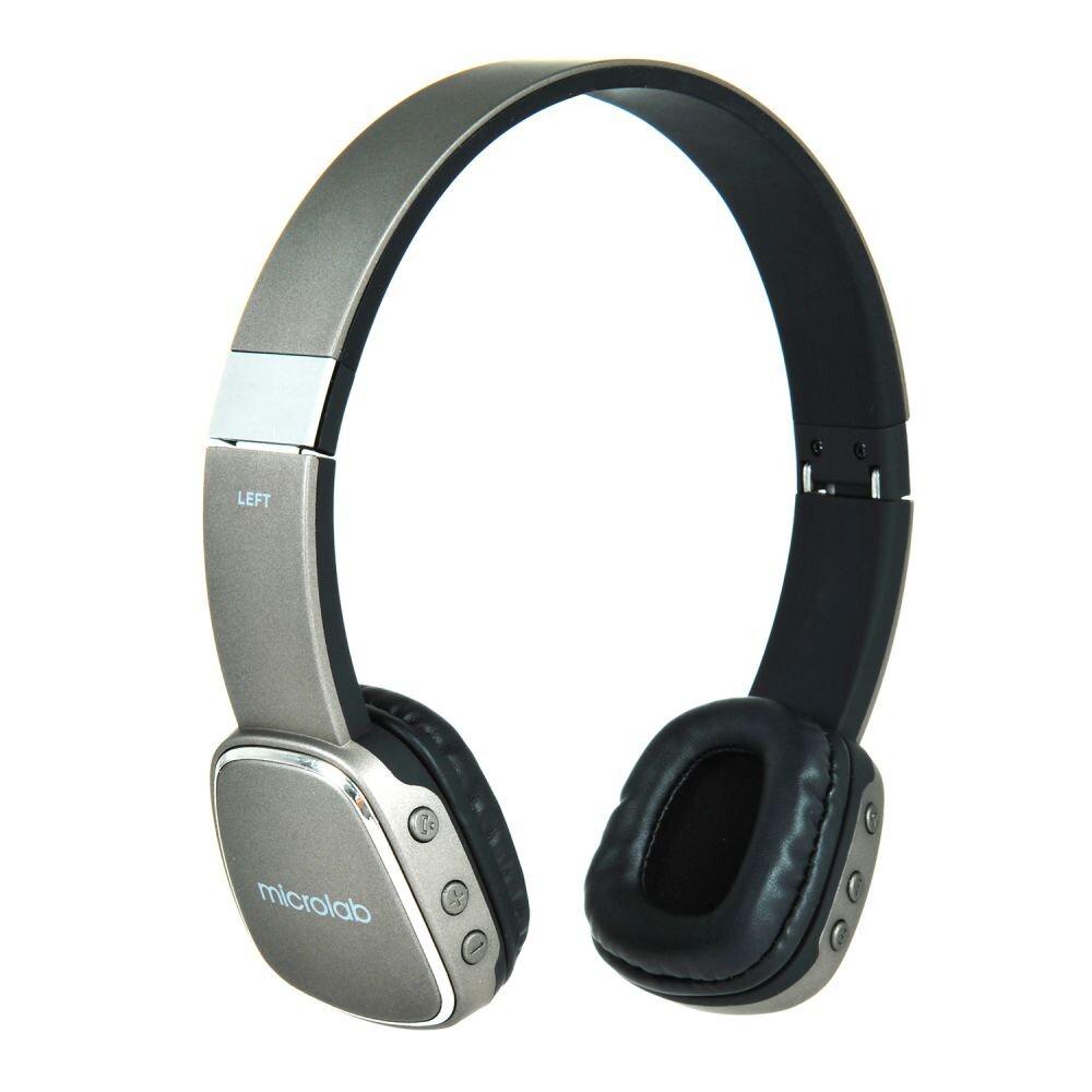 Наушники беспроводные с микрофоном Microlab T965BT gray недорго, оригинальная цена