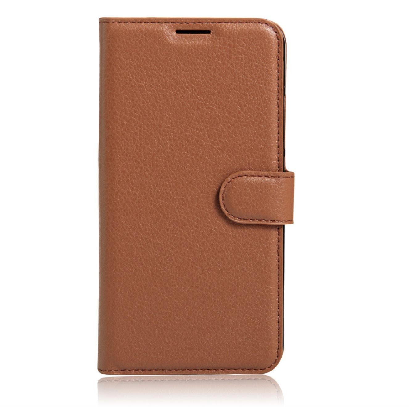 Чехол-книжка MyPads для Doogee X7 Pro с мульти-подставкой застёжкой и визитницей коричневый