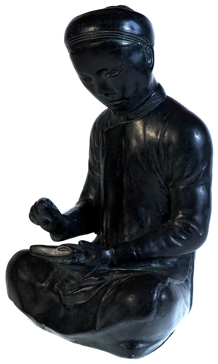 Статуэтка Будда. Высота 21 см. Гипс, авторская работа. Austin prod., Западная Европа, 1961 год r austin freeman osirise silm