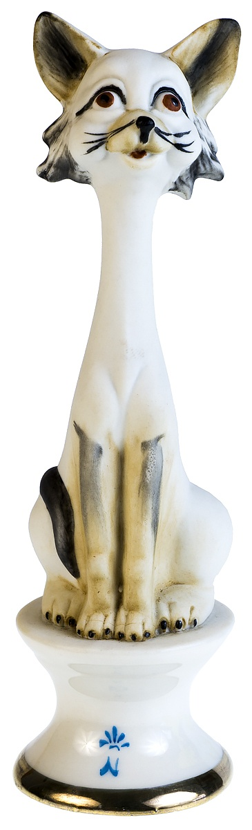 "Capodimonte. Статуэтка ""Котик"". Фарфор-бисквит. Высота 16 см. Италия, 1990-е гг."