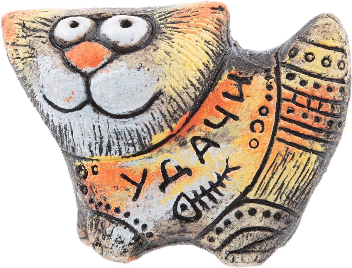Статуэтка Кот Люкс, авторская работа. Шамотная глина, глазурная и ангобная роспись, ручная работа. Высота 8 см. Россия кулон lampwork спиральная галактика ручная авторская работа