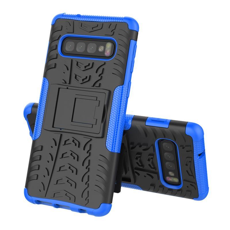 Чехол MyPads для Samsung Galaxy S10 Plus SM-G975F Противоударный усиленный ударопрочный синий