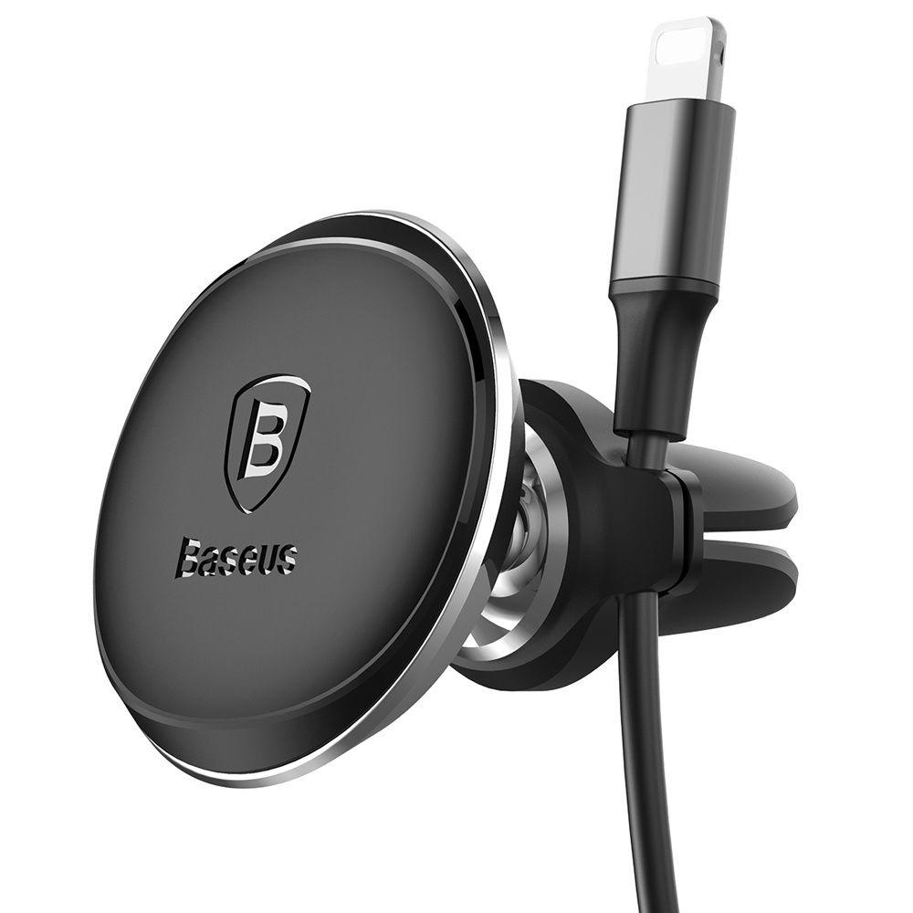 Автомобильный держатель для телефона в дефлектор магнитный Baseus With Cable Clip