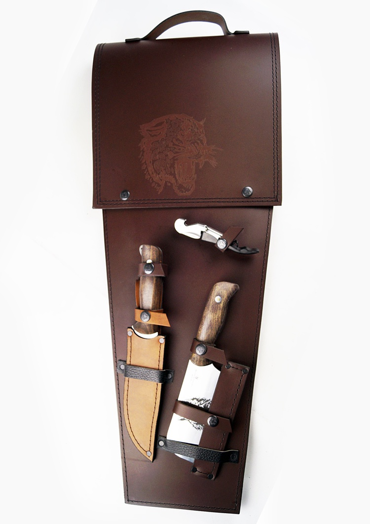 Набор для пикника Колчан №9 коричневый