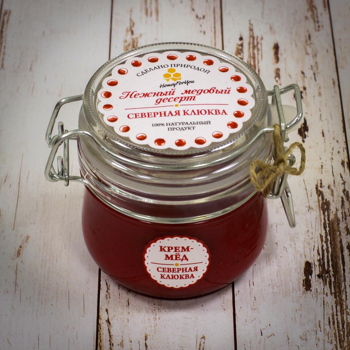 Нежный медовый десерт HoneyForYou Северная клюква