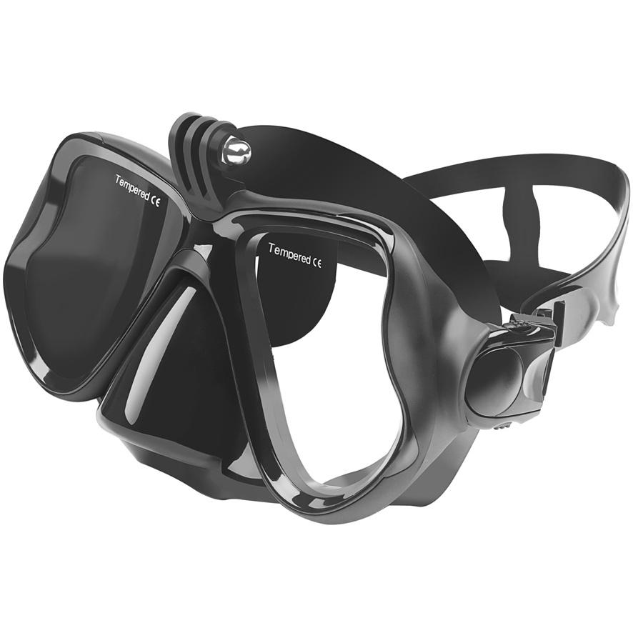 Маска для дайвинга и плавания NOVELEKA с креплением для экшн-камеры формата GoPro, SJCAM и других недорго, оригинальная цена