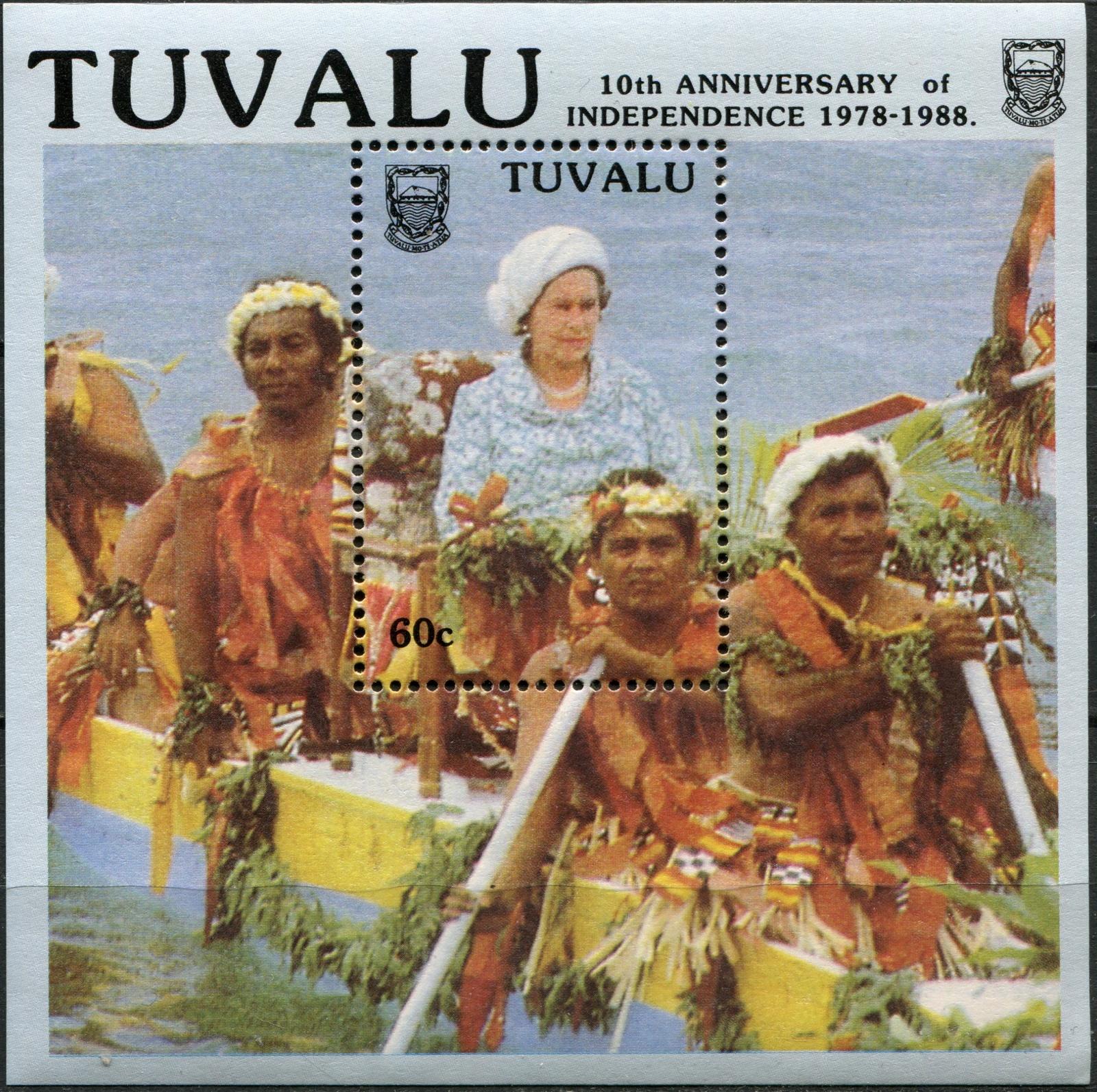 Тувалу. 1988. 10 лет независимости Тувалу (I) (Блок. MNH OG)
