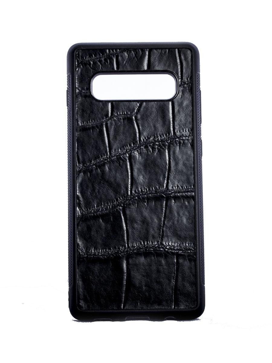 Чехол SSCase для Samsung Galaxy S10+ из кожи крокодила Black