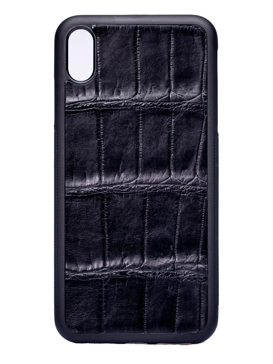 ЧехолSSCase для Apple Iphone XS Max из кожи крокодила Black