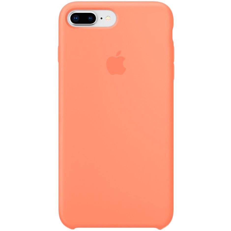 Чехол для Apple iPhone 8 Plus Silicone Case Peach