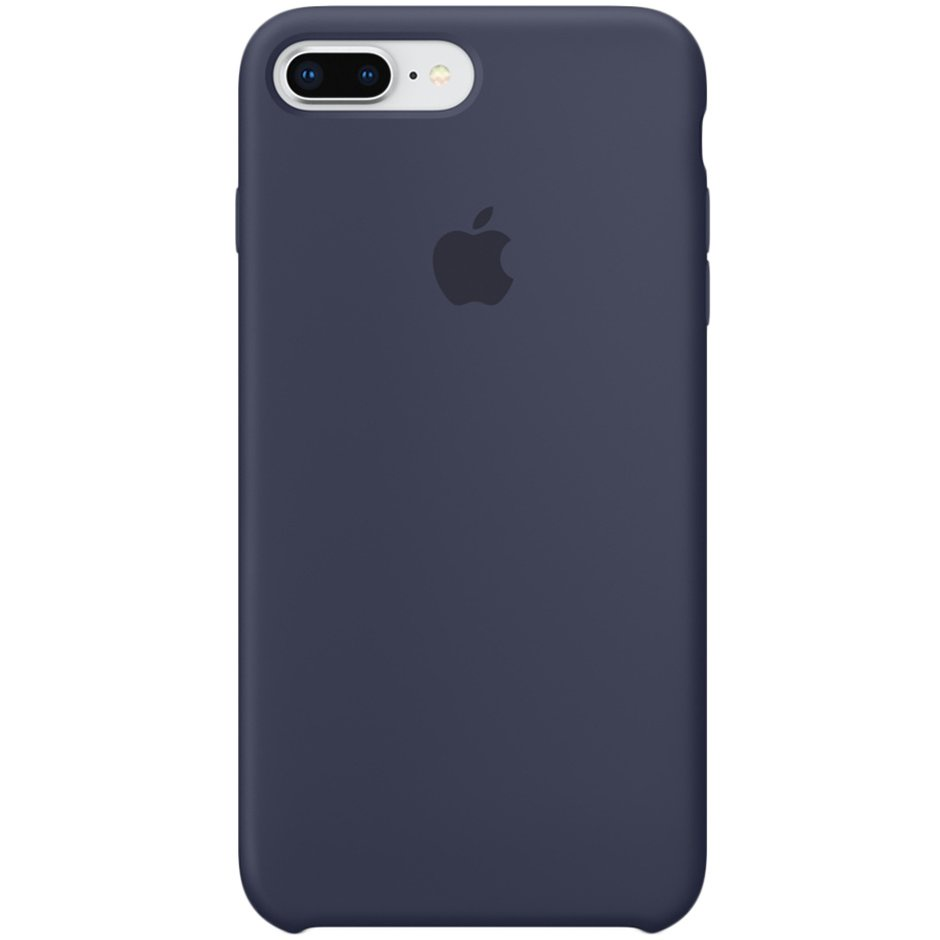 Чехол для Apple iPhone 8 Plus Silicone Case Midnight Blue панель кожаная apple для iphone 8 plus 7 plus midnight blue