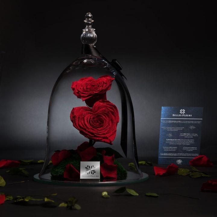 Композиция из вечной розы в прозрачной колбе Соблазн композиция из 555 роз магия любви