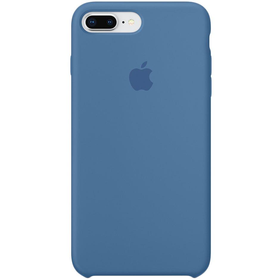Чехол для Apple iPhone 8 Plus Silicone Case Denim Blue