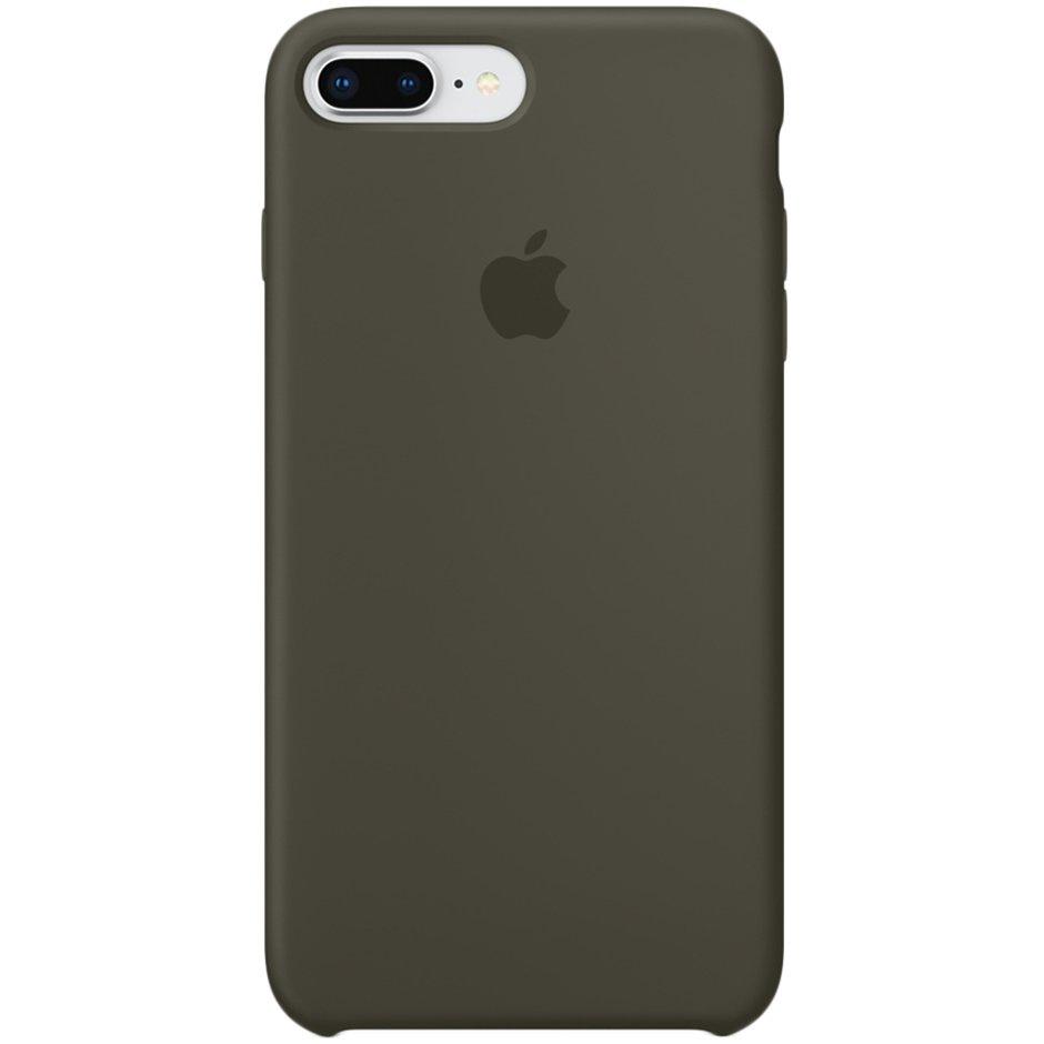 Чехол для Apple iPhone 8 Plus Silicone Case Dark Olive