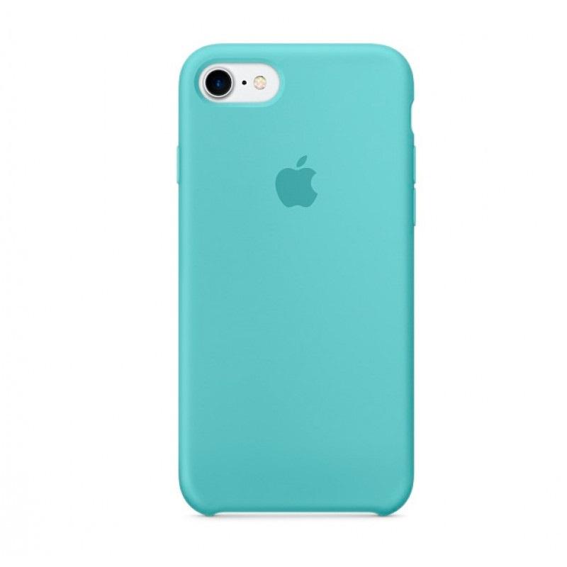 Чехол для Apple iPhone 7 Silicone Case Sea Blue аксессуар чехол mamba case white blue для apple iphone 7 8