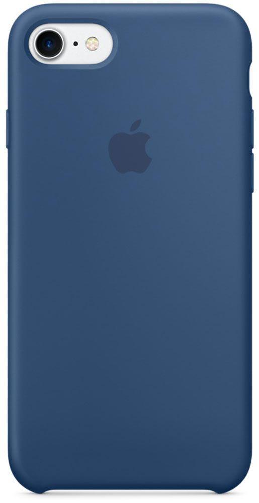 Чехол для Apple iPhone 7 Silicone Case Ocean Blue аксессуар чехол mamba case white blue для apple iphone 7 8