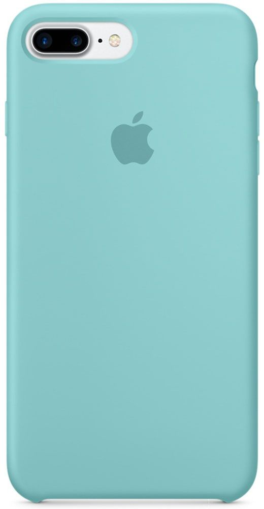 Чехол для Apple iPhone 7 Plus Silicone Case Sea Blue панель кожаная apple для iphone 8 plus 7 plus midnight blue