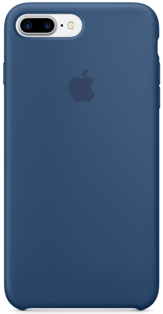 Чехол для Apple iPhone 7 Plus Silicone Case Ocean Blue панель кожаная apple для iphone 8 plus 7 plus midnight blue