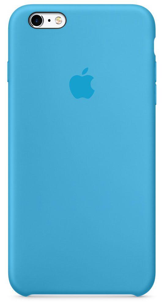 цена на Чехол для Apple iPhone 6 Plus/6S Plus Silicone Case Blue