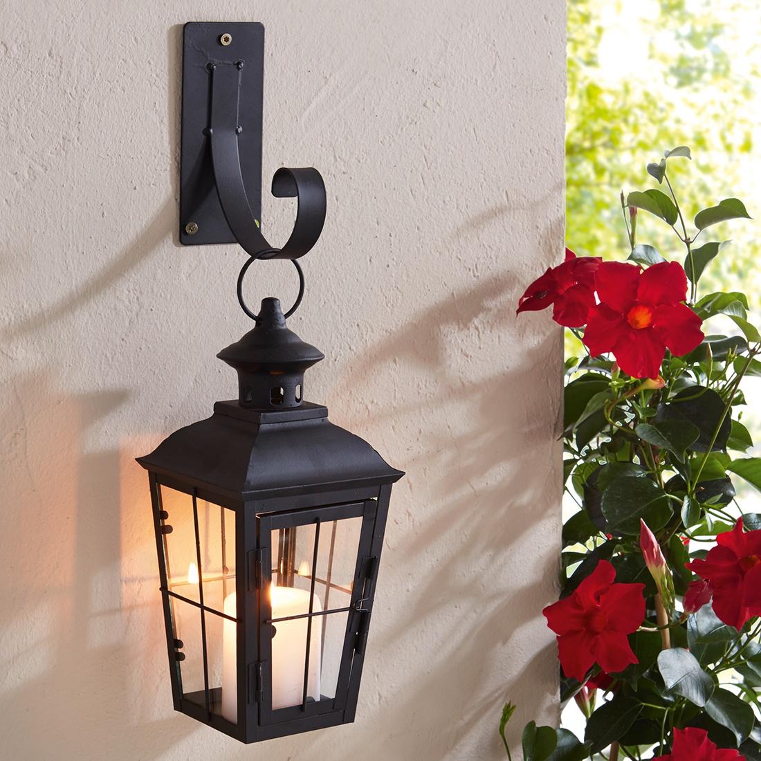 Подсвечник-фонарь с держателем Замок подсвечник фонарь 24 5х38 см