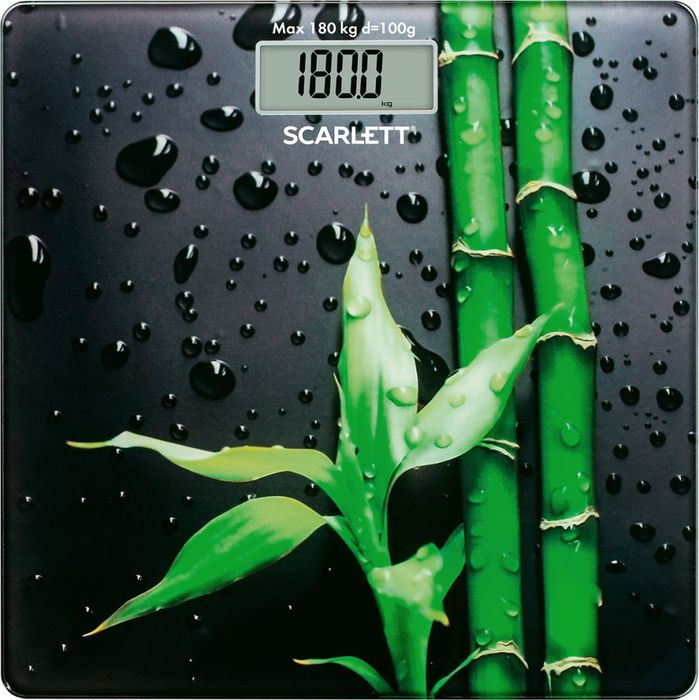 Напольные весы Scarlett SC-BS33E051, черный, зеленый