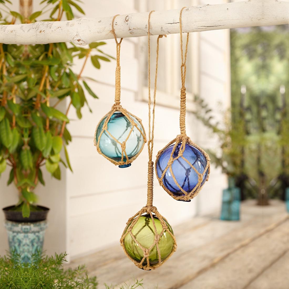Подвесные украшения Цветные шары, 3 штуки украшения в стиле канзаши