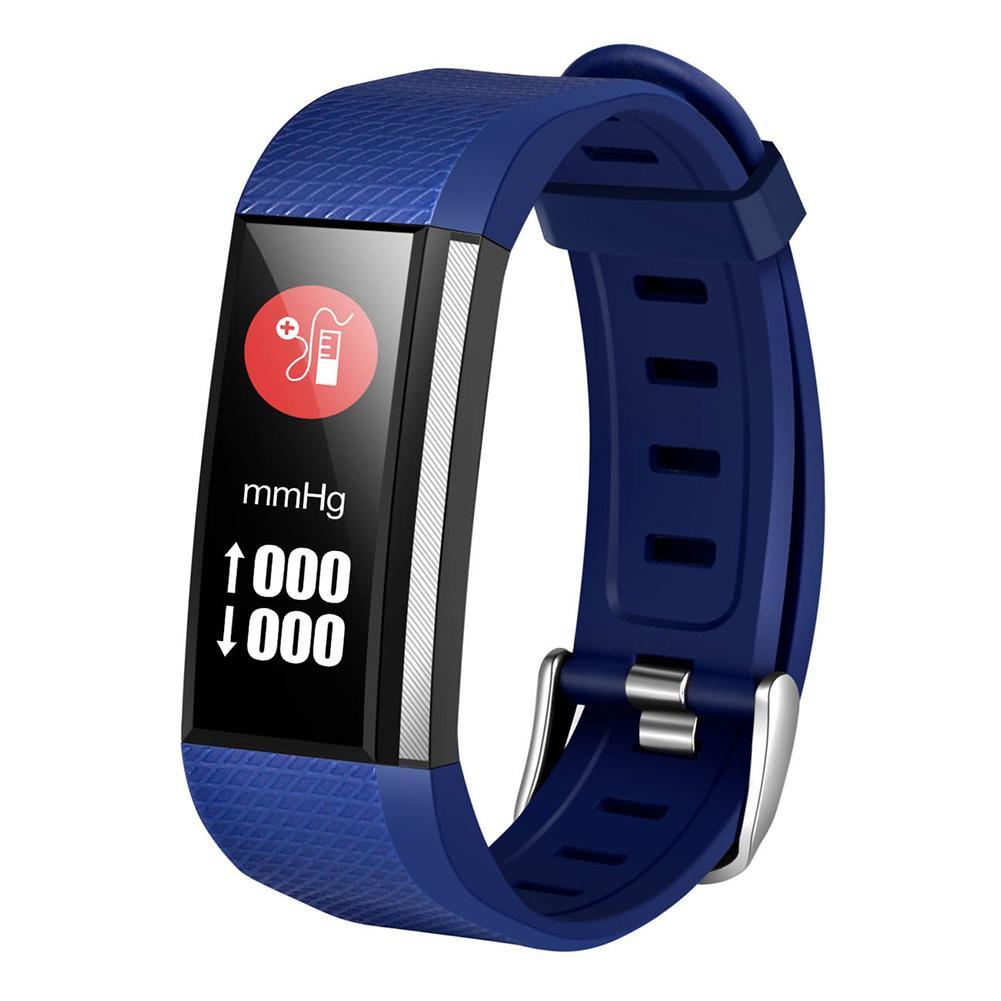 M200 Водонепроницаемый Bluetooth Частота сердечных сокращений Монитор артериального давления Браслет Синий