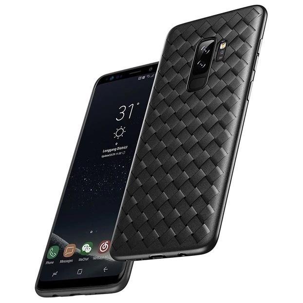 Чехол для Samsung Galaxy S9+ Baseus BV Weaving - Черный (WISAS9P-BV01)