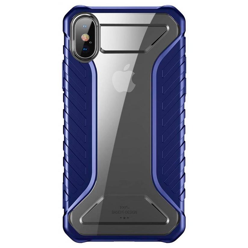 Чехол для iPhone X/XS Baseus Michelin Race Case - Темно-синий (WIAPIPH58-MK03) цена и фото