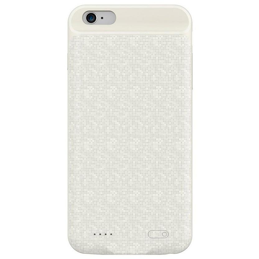 Фото - Чехол-аккумулятор для iPhone 6/6S 2500мАч Baseus Plaid Backpack - White Pixel (ACAPIPH6-BJ02) аккумулятор