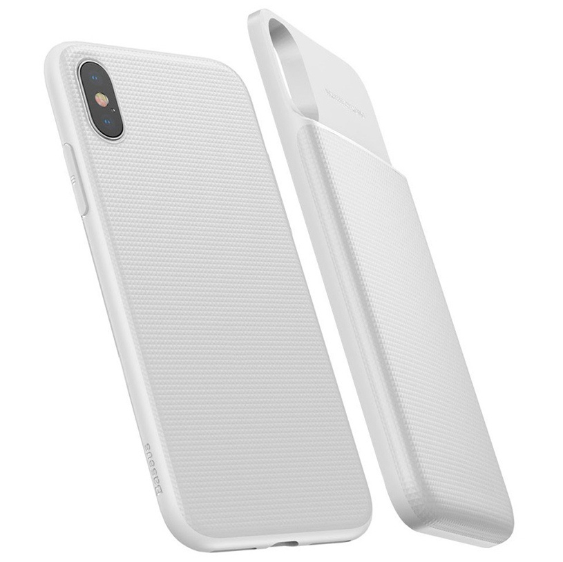 Чехол-аккумулятор для iPhone X 5000мАч Baseus 1+1 Wireless Charge Backpack - Белый (ACAPIPHX-ABJ02)